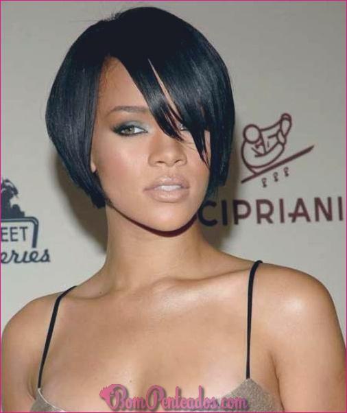 20 grandes penteados curtos pretos