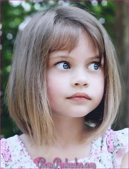 15 cortes de cabelo bob para crianças