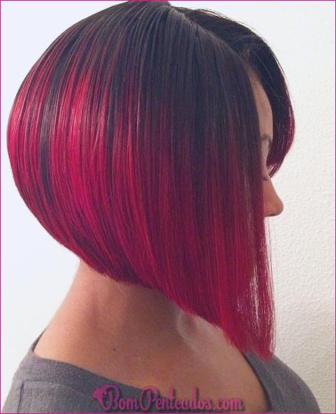 15 idéias para cabelo vermelho Ombre