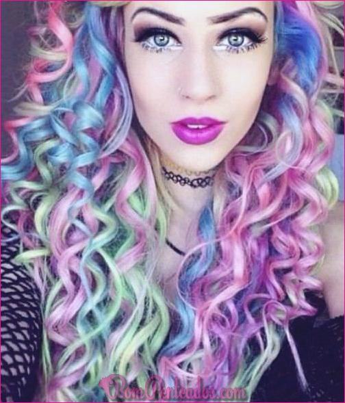 20 penteados lindo arco-íris