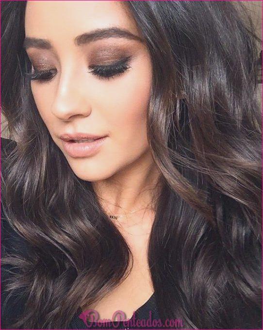20 penteados glamourosos para cabelos castanhos escuros