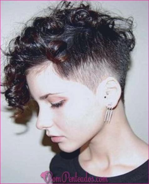 Cortes de cabelo curtos para cabelos cacheados