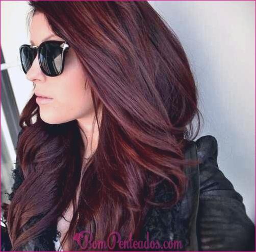 20 idéias para a cor do cabelo de Borgonha em morenas Loiras e cabeças vermelhas
