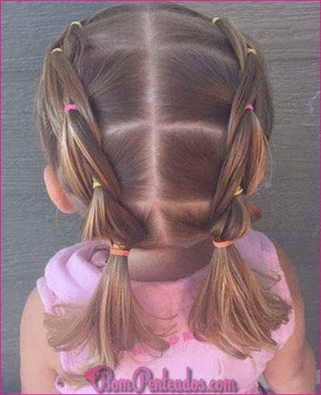 Penteados trança pigtail diferente