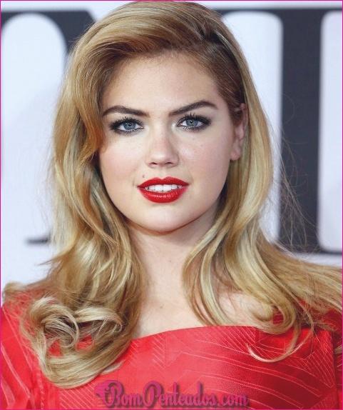 20 penteados médios fáceis para rostos redondos