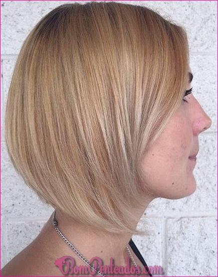 20 cabelo curto marrom Balayage parece