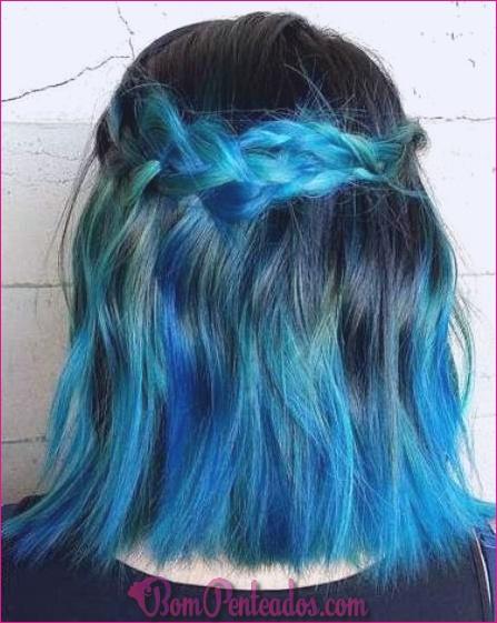 15 penteados azuis Ombre para mulheres