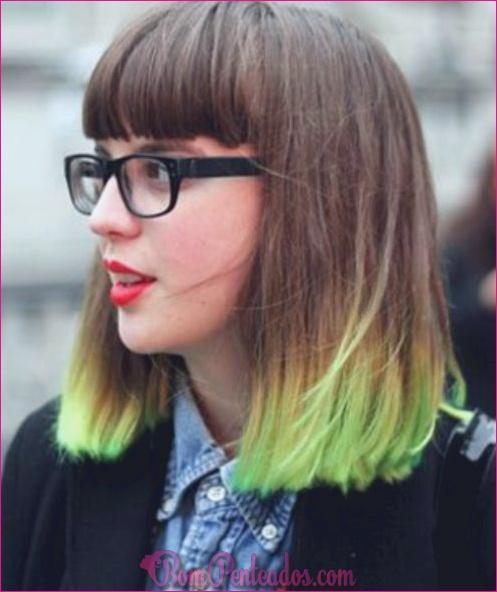 Melhores penteados de dois tons para mulheres