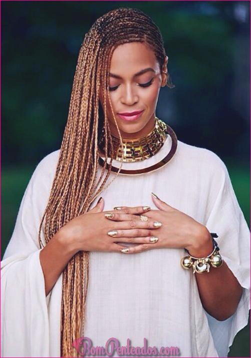 15 lindas tranças de caixa de balanço de Beyonce