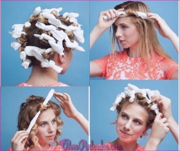 Como obter cabelos cacheados?