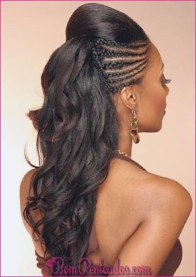 20 penteados de trança preto elegante