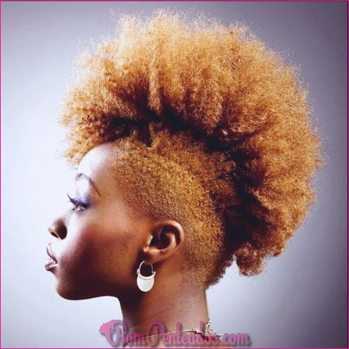 20 penteados de cabelo natural de fantasia Mohawk