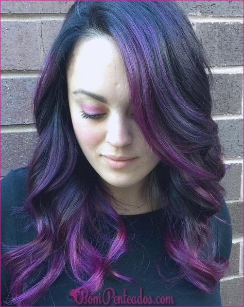 20 idéias frescas para cabelo Ombre de lavanda e Ombre roxo
