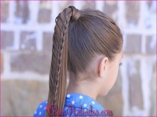 20 rabos de cavalo trançados para meninas