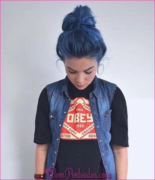 15 penteados de destaque azul