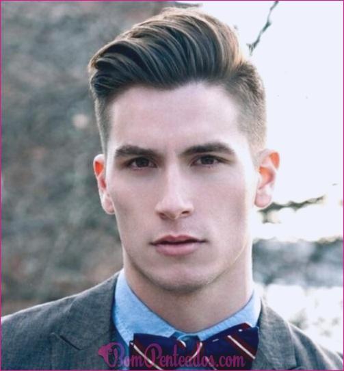 Pente diferente sobre penteados para homens