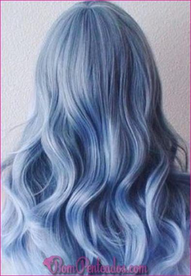 15 penteados azuis Pastel de tirar o fôlego