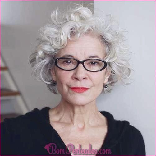 15 melhores penteados para mulheres acima de 70