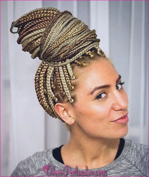 15 penteados de coque trançado